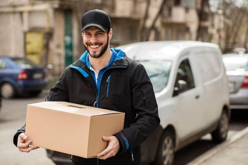 Courier Driver with Parcel
